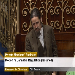 Luke 'Ming' Flanagan raising the issue of legalisation before the Dail (2014)